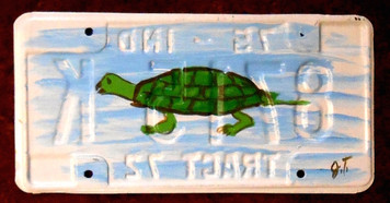 MUD TURTLE License Plate by John Taylor