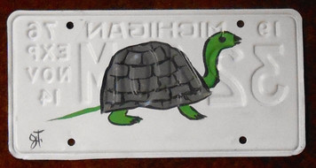 TURTLE License Plate by John Taylor (Facing Right)