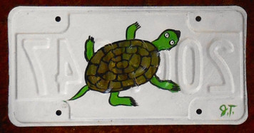 TURTLE License Plate by John Taylor (Top view)