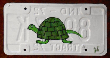 TURTLE License Plate by John Taylor (Facing Left)