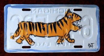 TIGER License Plate by John Taylor