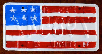 AMERICAN FLAG License Plate by John Taylor
