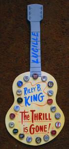 B. B. KING Wooden Guitar trimmed w/ Beer Bottle Caps by George Borum