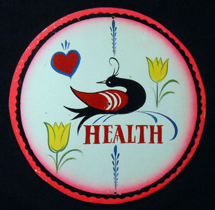 HEALTH Pa Dutch Style HEX SIGN by Geo G Borum