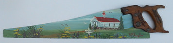 Carpenter Saw  - Oil Painted CHURCH by Norm