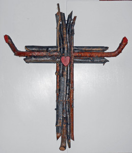 BEAUTIFUL RUSTIC TWIG CROSS by Pops Casey