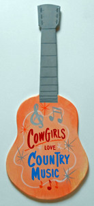 COWGIRLS LOVE COUNTRY MUSIC GUITAR by George Borum