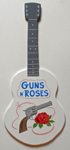 GUNS AND ROSES GUITAR WALL HANGING - NOW ONLY $40