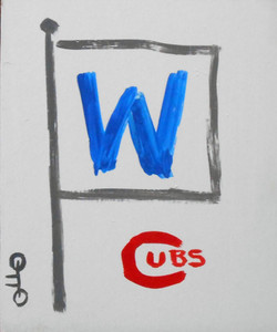 "CHICAGO CUBS - ""W"" FLAG by Otto Was $15-Now$10"
