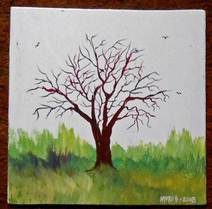 TREE & BIRDS by George Borum