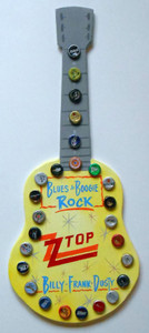 Z Z TOP GUITAR - Bottle Cap Trimmed - WAS $50 - NOW $35