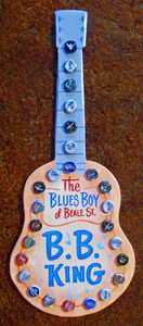 B B KING Bottle Cap GUITAR by George Borum