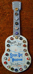STEVIE RAY VAUGHAN Bottle Cap Trimmed  GUITAR by George Borum
