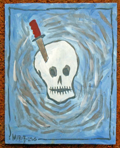 SKULL with KNIFE PAINTING by Murob (Borum)