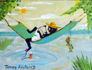 """LAZY DAY FISHIN"" Painting by Jonne Applseed"