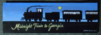 Midnight Train to Georgia Acrylic Painting by George Borum