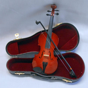 "MINIATURE VIOLIN and CASE - 10"" Long"