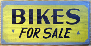 BIKES FOR SALE - Bicycle Shop Sign