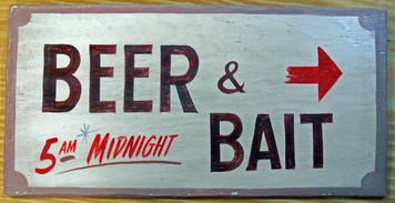 BEER & BAIT - BAIT SHOP SIGN