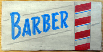 BARBER POLE SIGN