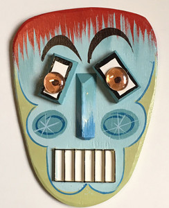 3-D WOODEN MASK #6 - by George Borum