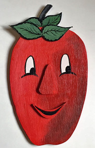 3-D WOODEN APPLE WALL MASK #8 - by George Borum
