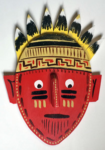 3-D WOODEN INDIAN WALL MASK #2 by George Borum WAS $35 - NOW $20