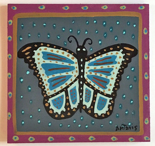 BUTTERFLY PAINTING by Anthony Tavis -