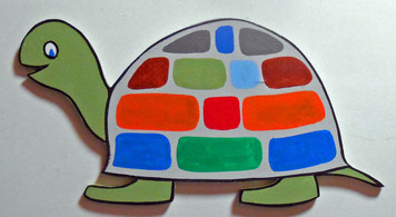 COLORFUL TURTLE WOOD CUTOUT by George Borum