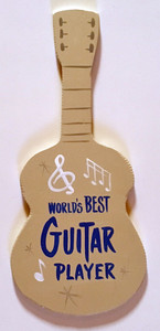 GUITAR WALL HANGER - World's Best Guitar Player - by George Borum