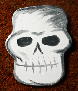 Wood Cutout SKULL #1 by George Borum - WAS $25 - NOW $15