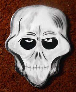 SKULL Wood Cutout #2 - by George Borum