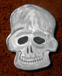 SKULL #4 - Wood Cutout by George Borum WAS $25 - NOW $15