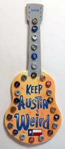 GUITAR  WALLHANGER - KEEP AUSTIN TX WEIRD by George Borum