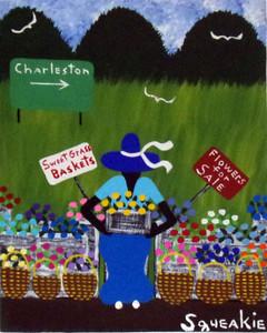 FLOWER & BASKET LADY (10) by Squeakie