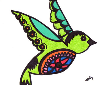COLIBRI BIRD by Nathania Garcia - WAS $30 - NOW $15