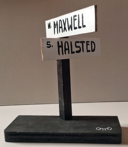 MAXWELL ST & HALSTED STREET SIGN by Otto- Was $25 - Now $15