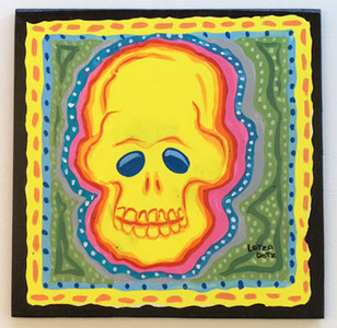 LOTZ DOTS - SKULL PLAQUE #3