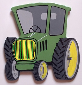 JOHN DEERE CARTOON TRACTOR PLAQUE by George Borum