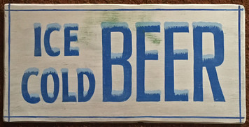 ICE COLD BEER SIGN by George Borum