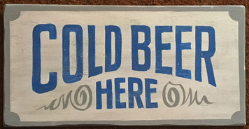 COLD BEER SIGN by George Borum
