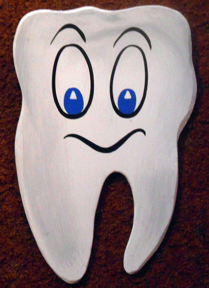Tooth Wooden Cutout
