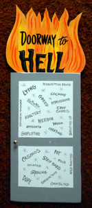 DOORWAY TO HELL Wall Hanger by George Borum