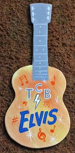 ELVIS - TCB GUITAR Wall Hanger by George Borum