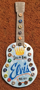 ELVIS - STILL the KING GUITAR WOOD Cut-Out by George Borum