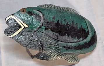 PAINTED FISH ON A TURTLE SHELL  by R.A.T. - WAS $60 - NOW $30