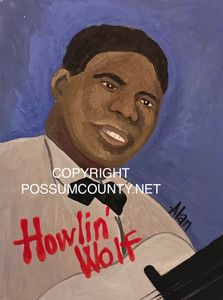 HOWLIN' WOLF PORTRAIT by Alan the Portrait Guy - WAS $60  - NOW $45