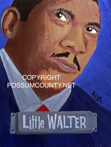 LITTLE WALTER PAINTING by ALAN the Portrait Guy - WAS $60 - NOW $45