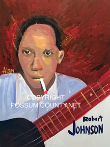 ROBERT JOHNSON PAINTING by ALAN the Portrait Guy - DISCOUNTED TO $35