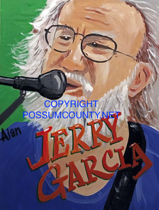 JERRY GARCIA Grateful Dead  by ALAN the Portrait Guy -  - DISCOUNTED TO $25